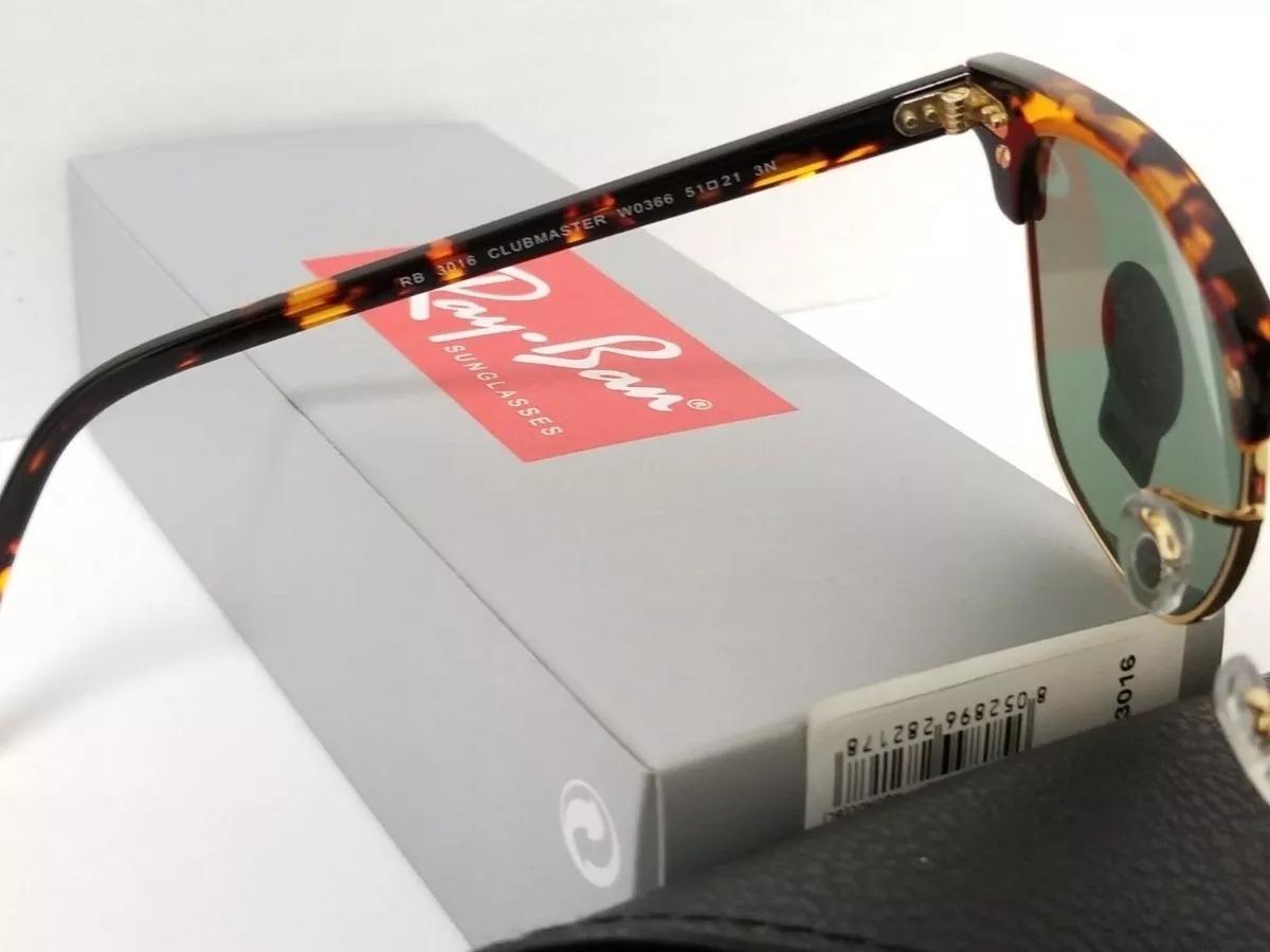 c9d3830b95450 Oculos De Sol Ray Ban Rb3016 Clubmaster Tartaruga G15 - R  319