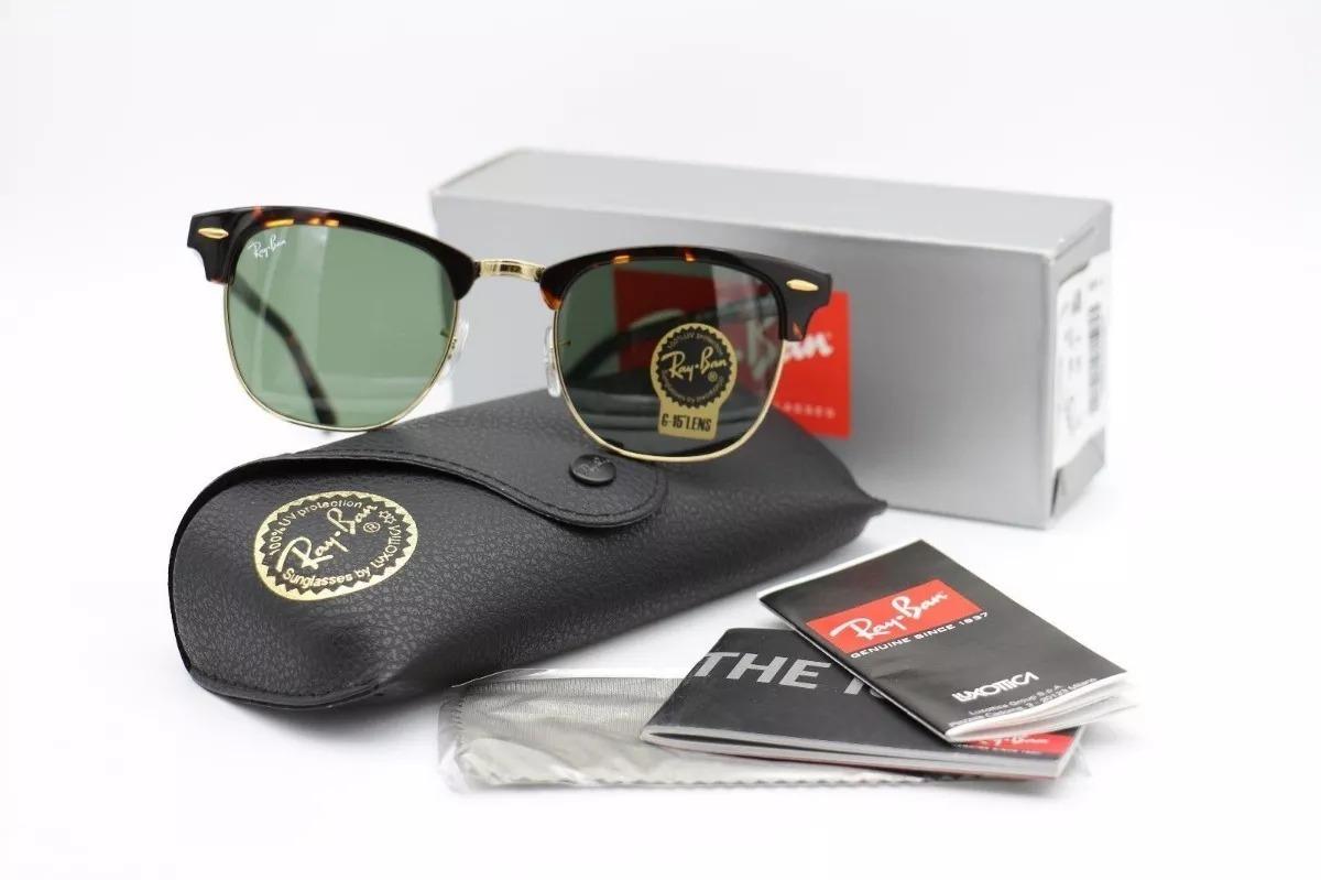 45d6512856228 Oculos De Sol Ray Ban Rb3016 Clubmaster Tartaruga G15 - R  319