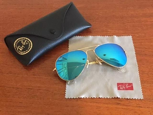 e87e2cd2cb409 Oculos De Sol Ray Ban Rb3025 Aviador Espelhado Azul - R  200,00 em ...