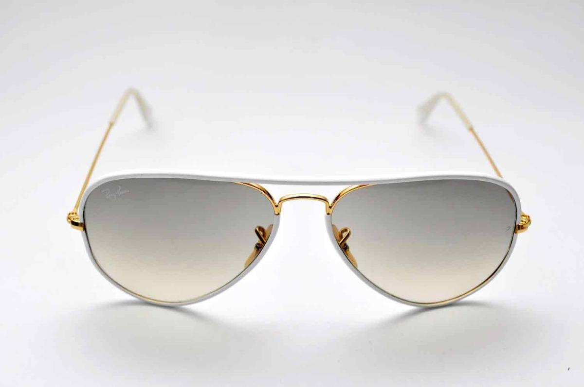 9f4fcbc2d1656 óculos de sol ray ban rb3025 jm aviador branco. Carregando zoom.
