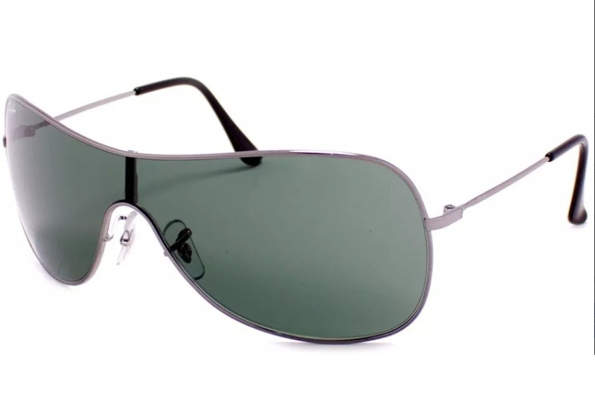 61d42a3137312 óculos de sol ray ban rb3211 prata g15 mascara original. Carregando zoom.