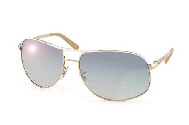 10f0eb29a97c1 Óculos De Sol Ray Ban Rb3387 Dourado Espelhado Tam 67 Raro - R  650 ...