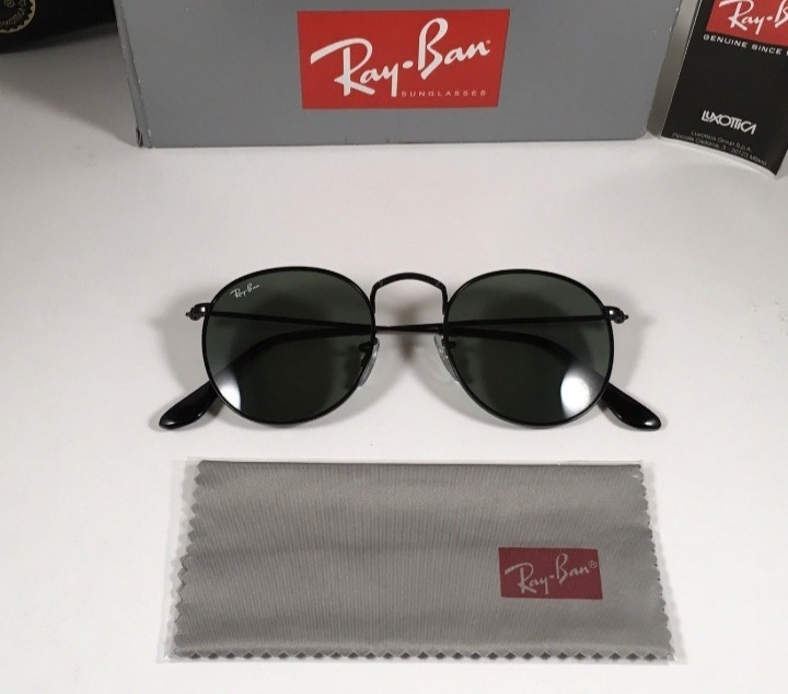 40a26983cefd2 Oculos De Sol Ray Ban Rb3447 Round Classic Redondo Promocao - R  214 ...