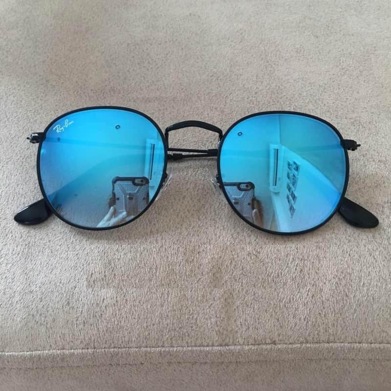 oculos de sol ray ban rb3447 round gradiente redondo azul. Carregando zoom. 74d2b2e56e