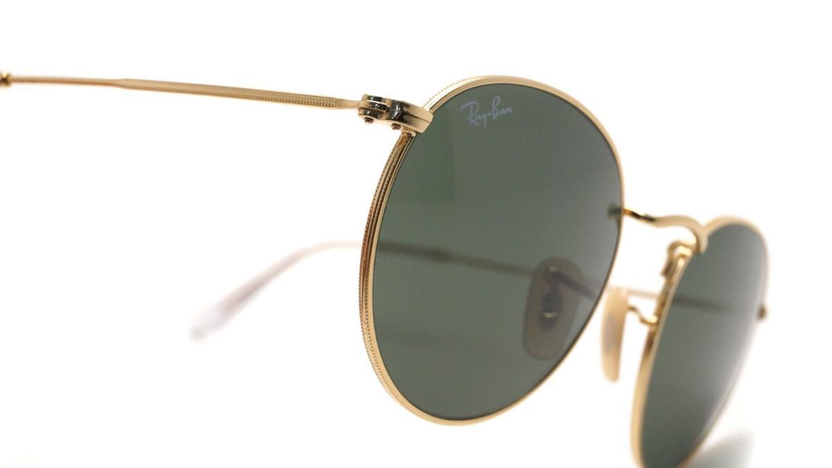 d67bc03b5 Óculos De Sol Ray Ban Rb3447 Round Redondo Dourado G-15 - R$ 319,00 ...