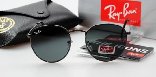 7f5e5723d91f4 Óculos De Sol Ray Ban Rb3447 Round Redondo Feminin Masculino - R ...