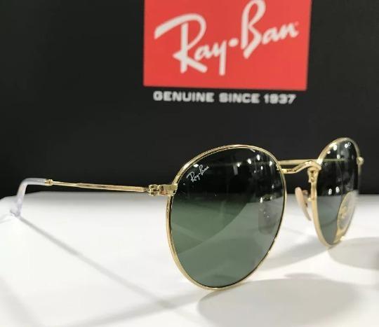 7c2274e0fa78b Oculos De Sol Ray Ban Rb3447 Round Redondo Tamanho Grande 53 - R ...