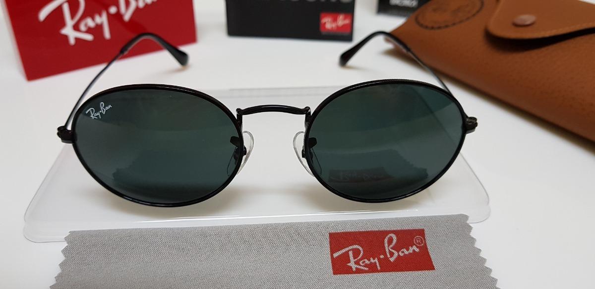078a946f5f6ed óculos de sol ray-ban rb3547n oval preto e lentes pretas. Carregando zoom.
