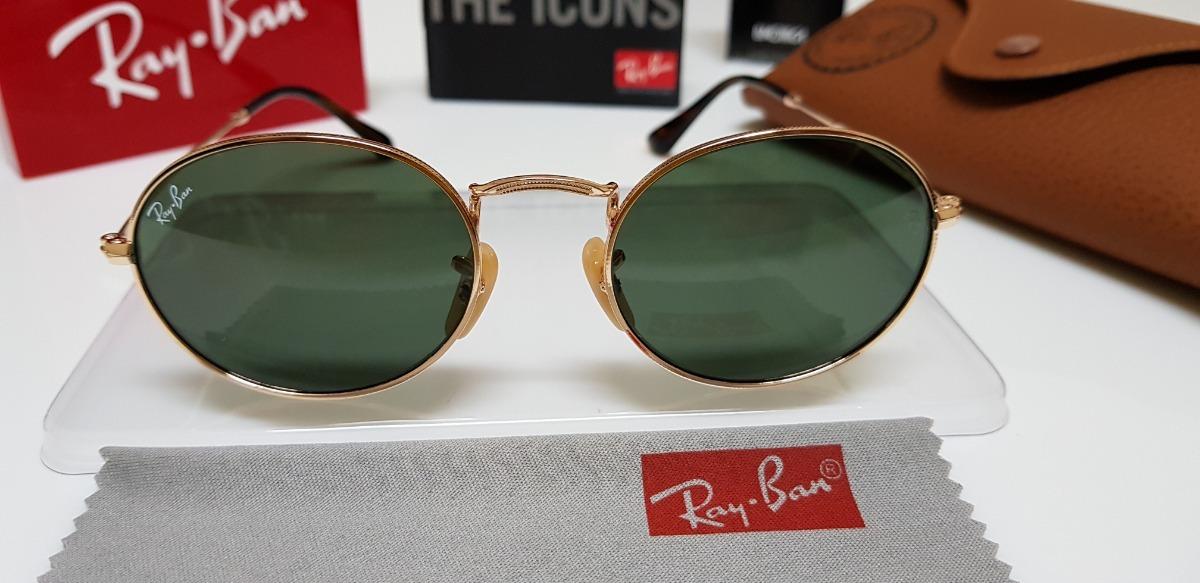 88532e297 Óculos De Sol Ray-ban Rb3547n Oval Verde G15 Clássico - R$ 290,00 em ...