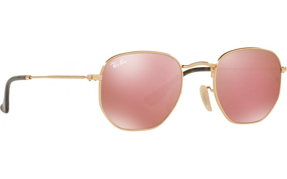 ddf60f3e2d8ce óculos de sol ray-ban rb3548 espelhado hexagonal original. Carregando zoom.