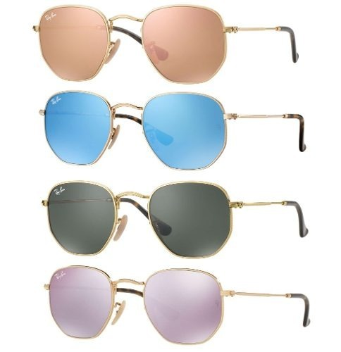 Óculos De Sol Ray-ban Rb3548 Espelhado Hexagonal Original - R  192 ... a62383b937