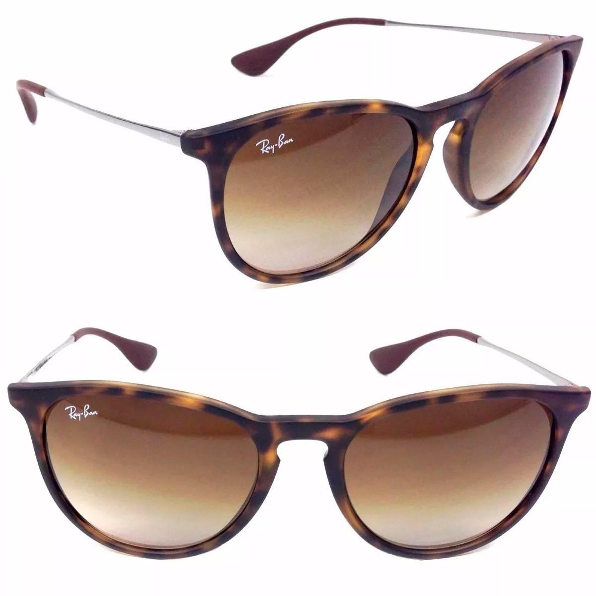 c387e8e38 óculos de sol ray-ban rb4171 erika original marrom tartaruga. Carregando  zoom.