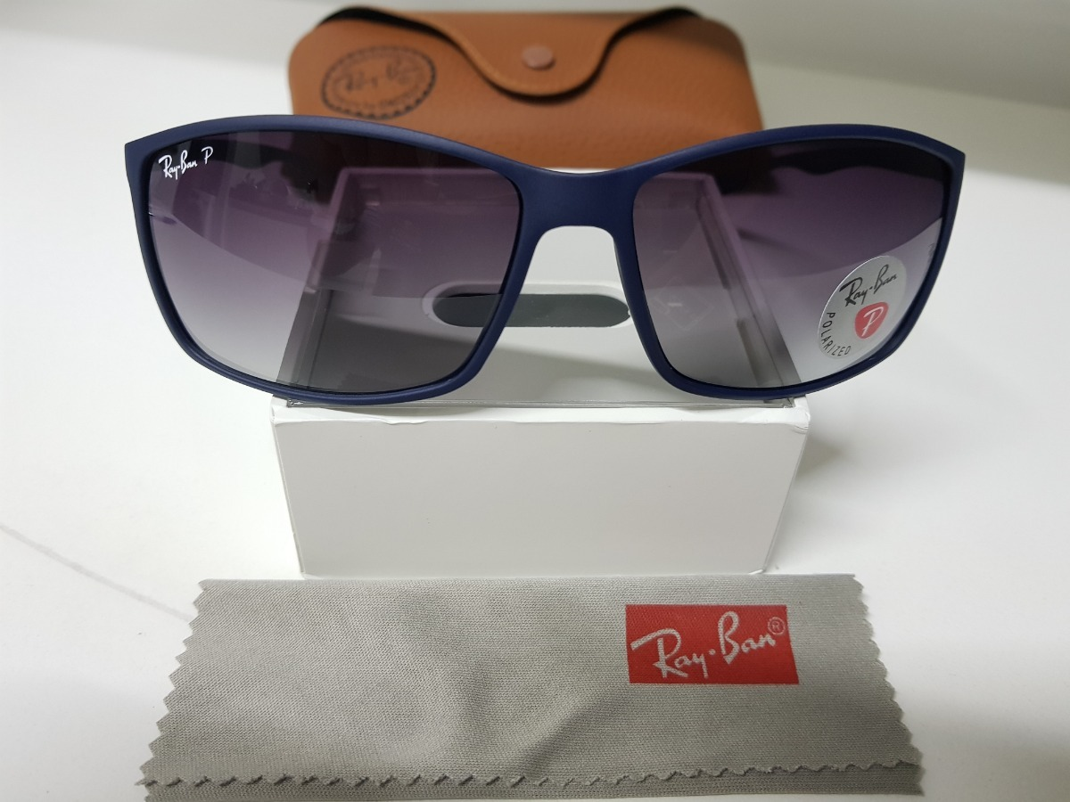 c176529972 Óculos De Sol Ray Ban Rb4179m Azul Liteforce Cinza Degradê. - R  290 ...