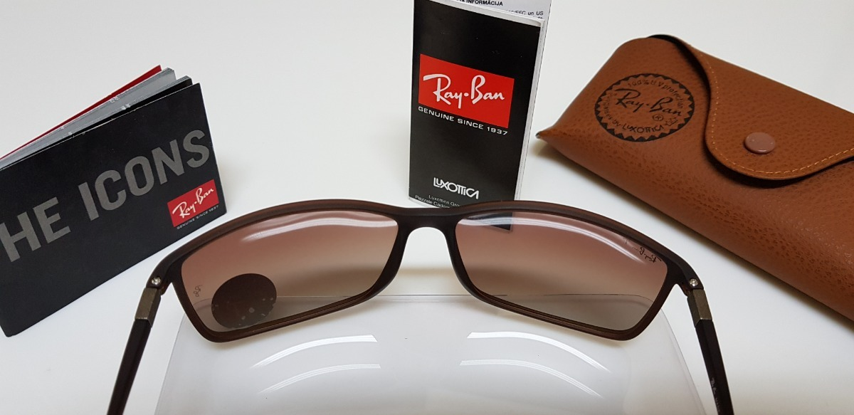 6ffc8104373f4 Óculos De Sol Ray Ban Rb4179m Marrom Lente Marrom Degradê. - R  239,90 em  Mercado Livre