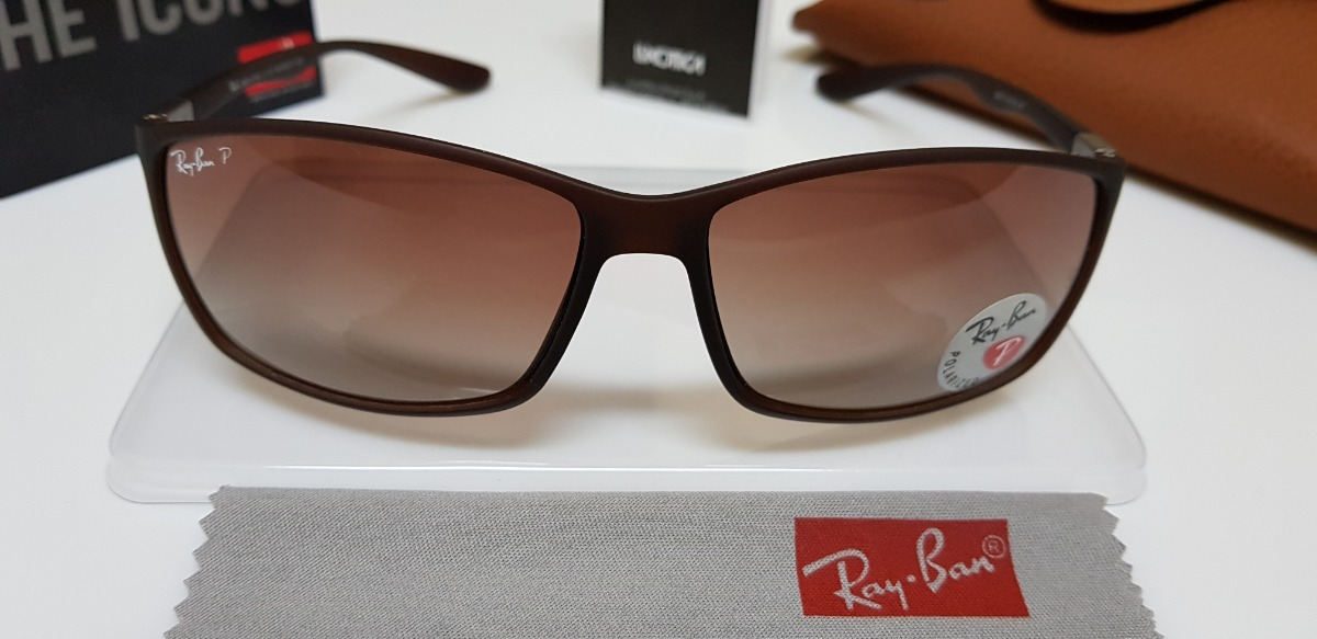 77f2603bd4995 Óculos De Sol Ray Ban Rb4179m Marrom Lente Marrom Degradê. - R  239 ...