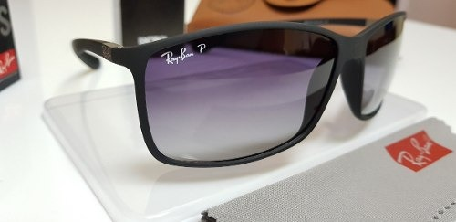 6e7fb34f74f87 Óculos De Sol Ray Ban Rb4179m Preto Com Lente Cinza Degradê. - R ...