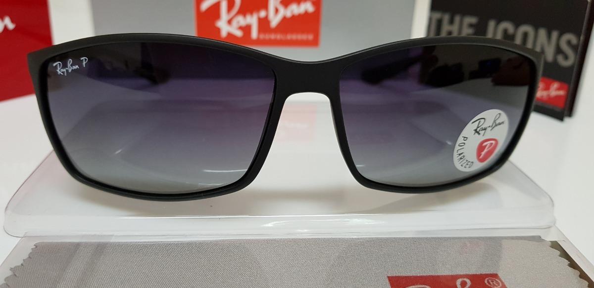 0ccae25334 óculos de sol ray ban rb4179m preto com lente preta degradê. Carregando zoom .