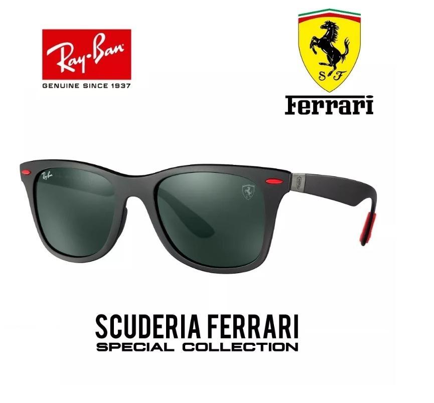 Óculos De Sol Ray-ban Rb4195 Preto - Ferrari - Promoção - R  398,49 ... cb4f7711f8