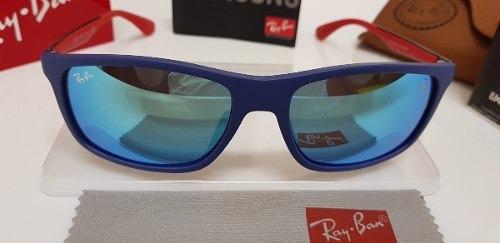 07226b6208 Óculos De Sol Ray Ban Rb4228m Scuderia Ferrari Wayfarer Azul - R ...