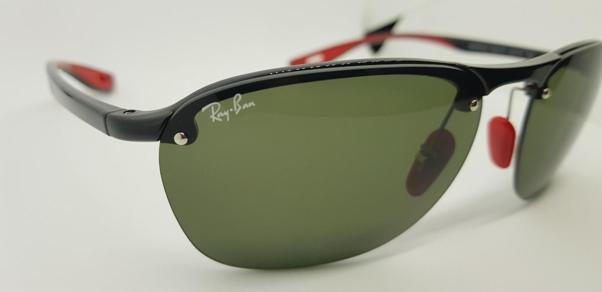 Óculos De Sol Ray Ban Rb4302m- Scuderia Ferrari- Verde G15. - R  290 ... 3a8e32e5cf