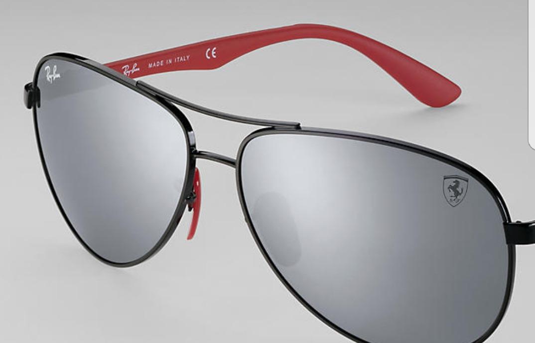 e0072b6a7 óculos de sol ray-ban rb8313m scuderia ferrari collection. Carregando zoom.