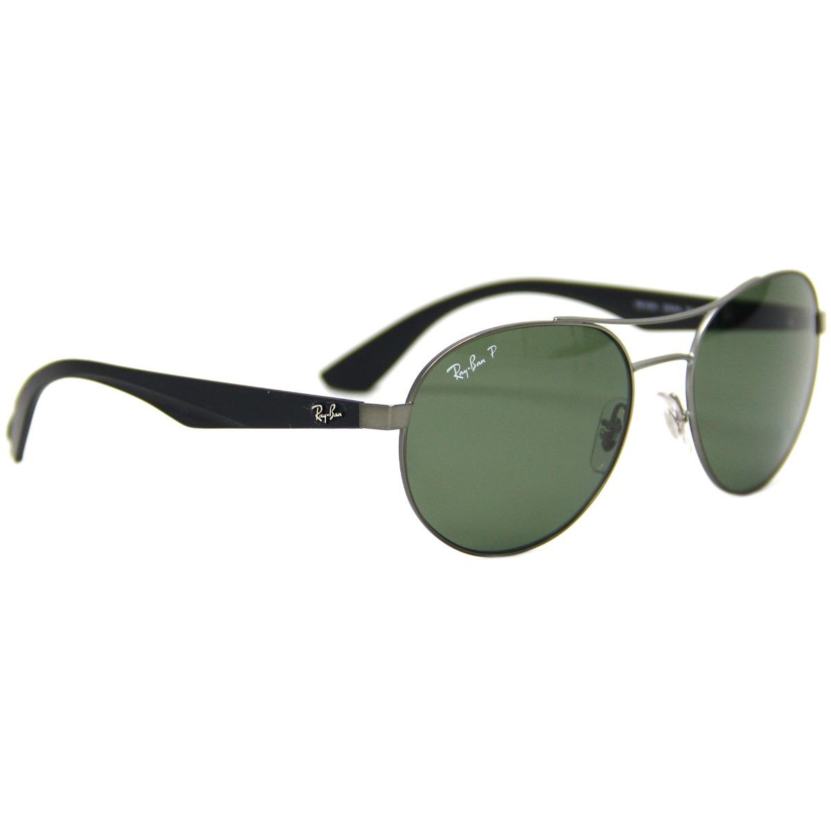 óculos de sol ray ban redondo lente verde polarizada 3536 02. Carregando  zoom. 66421010fa