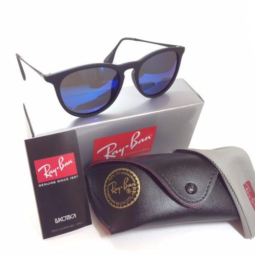303a71908442 Oculos De Sol Ray Ban Redondo Quadrado Masculino Azul Preto - R  59