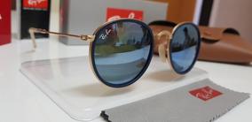 20b9084ab Ray Ban Round Dobrável Espelhado - Óculos no Mercado Livre Brasil