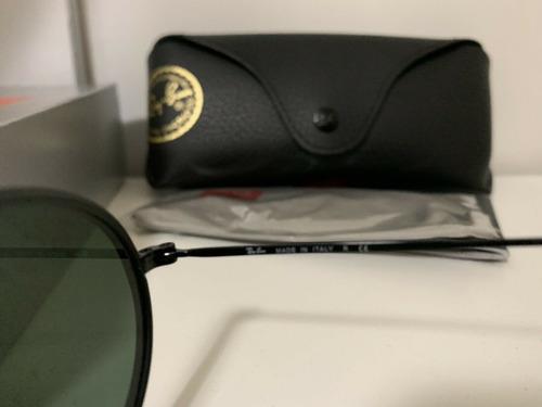 óculos de sol ray ban round double bridge oval rb3847 oferta