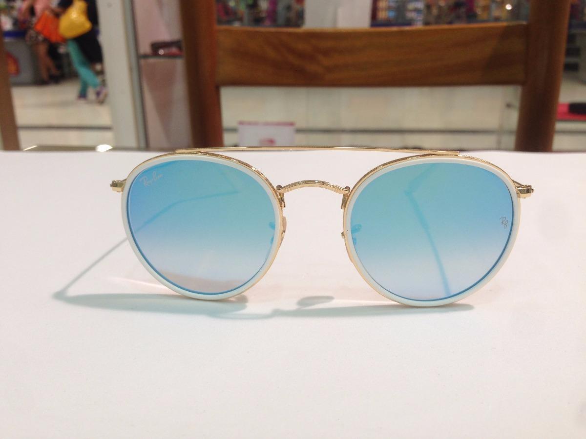 óculos de sol ray ban round double bridge rb 3647-n 001 4o. Carregando zoom. f3d9773659