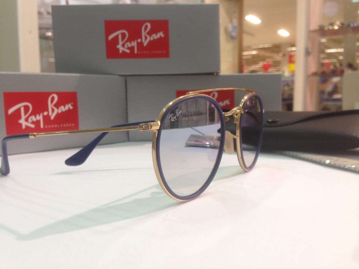 óculos de sol ray ban round double bridge rb 3647n 001 9u. Carregando zoom. d31f600a1326