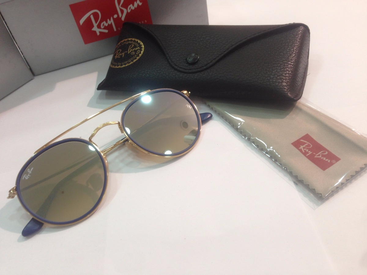 óculos de sol ray ban round double bridge rb 3647n 001 9u. Carregando zoom. 52c383e60c