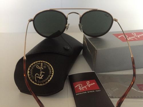 óculos de sol ray ban round double bridge rb3647 unissex