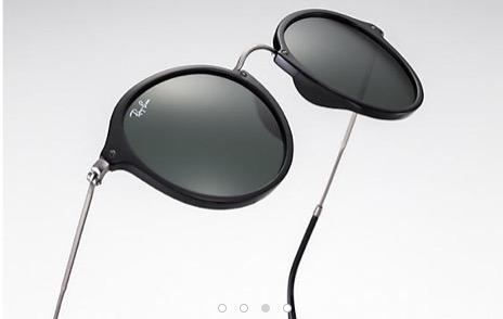 Óculos De Sol Ray-ban Round Fleck Rb2447 Armação Dourada . - R  278 ... 1c3d59c2b0