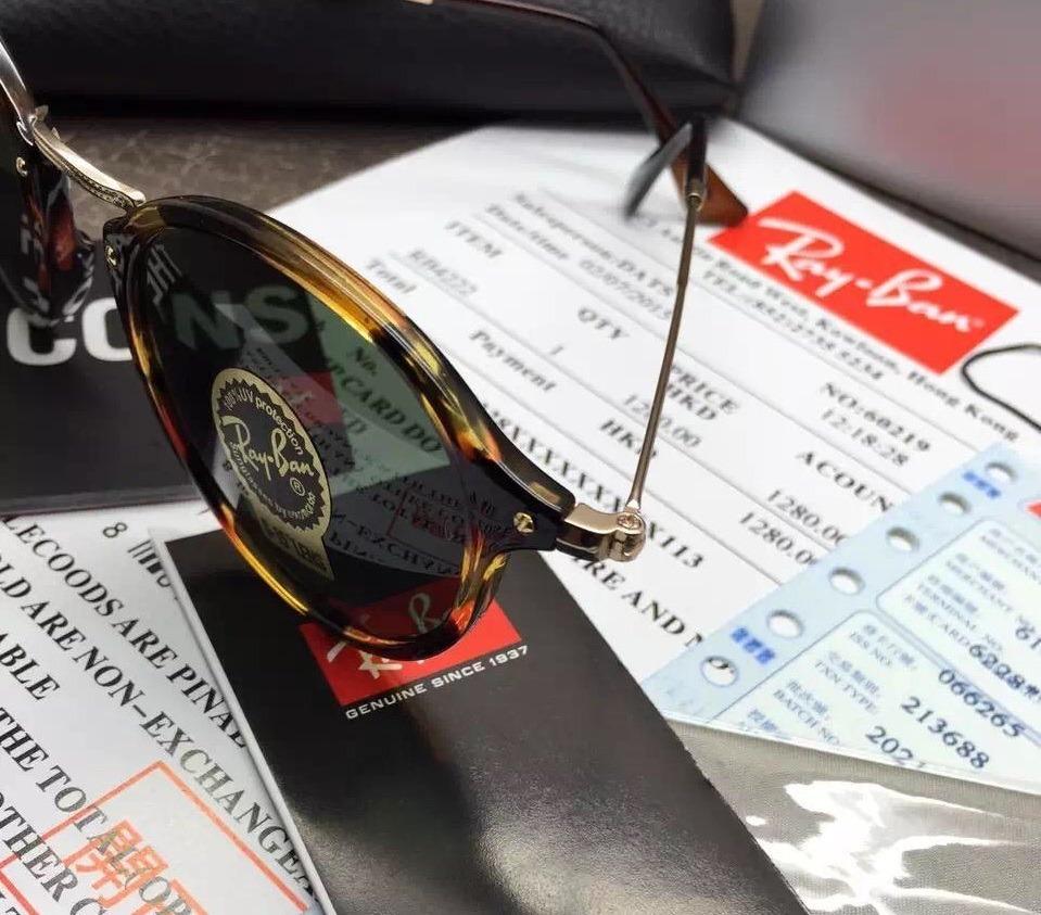 6361fb4d95ee6 oculos de sol ray ban round fleck rb2447 havanna tartaruga. Carregando zoom.
