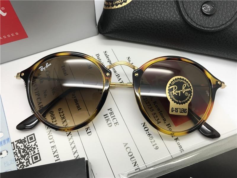 oculos de sol ray ban round fleck rb2447 marrom tartaruga. Carregando zoom. 9c595edbc4
