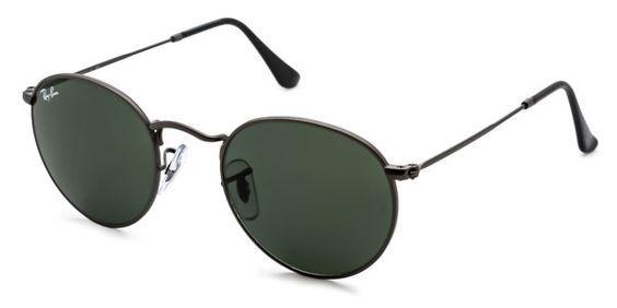 009401013facc Óculos De Sol Ray Ban Round Metal Cinza Fosco Clássico L3 - R  520 ...