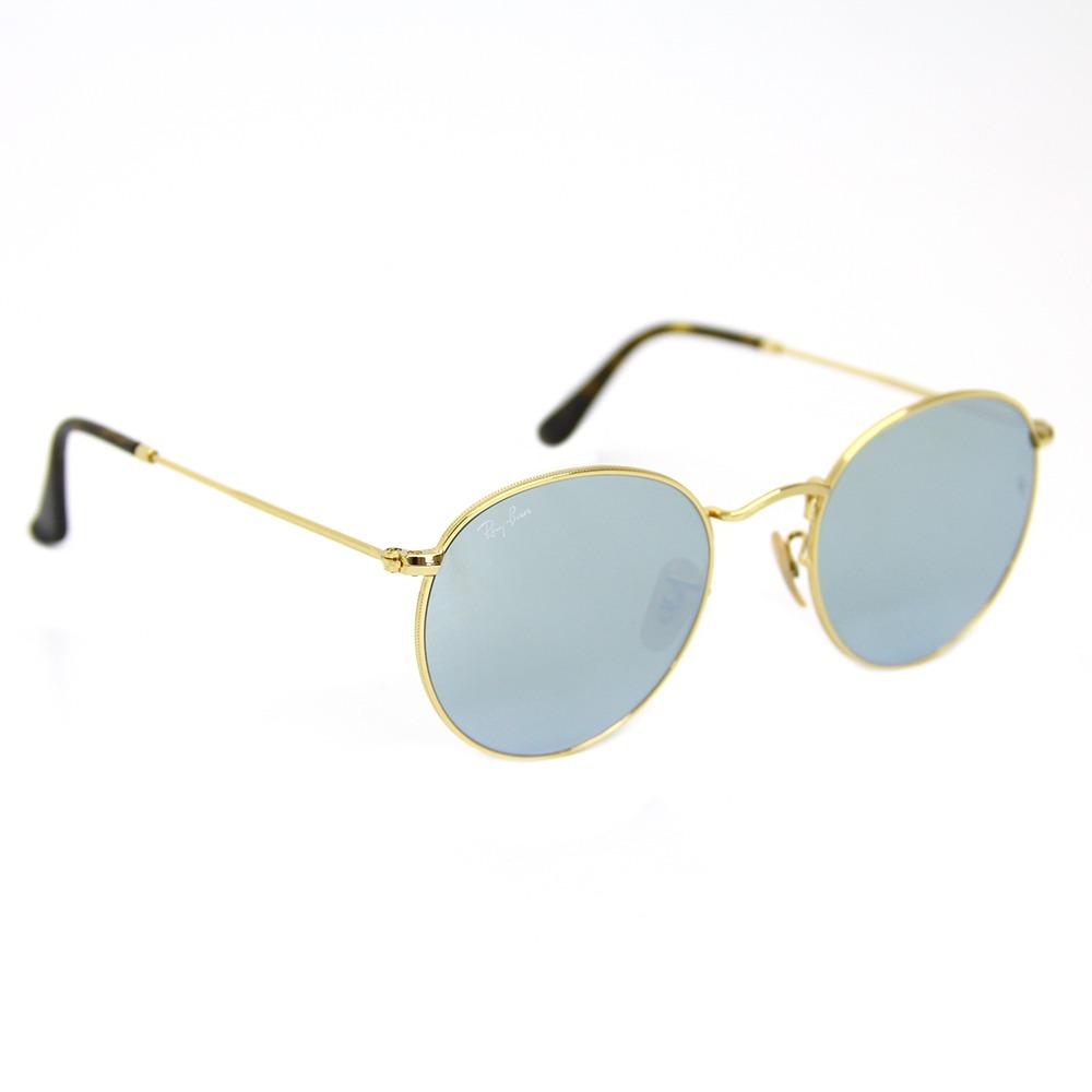 3bdefbd592051 óculos de sol ray ban round metal espelhado prata 3447. Carregando zoom.