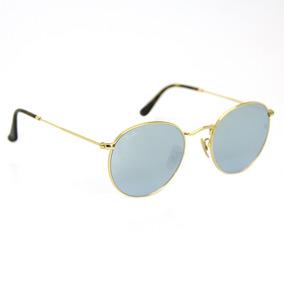 a1d3f1dd6 Oculos Rayban Redondo Espelhado Azul - Óculos no Mercado Livre Brasil