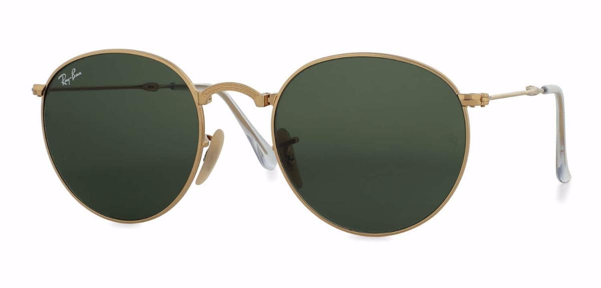 78fcefd8948ff Óculos De Sol Ray Ban Round Metal Lente G-15 - R  500,00 em Mercado ...