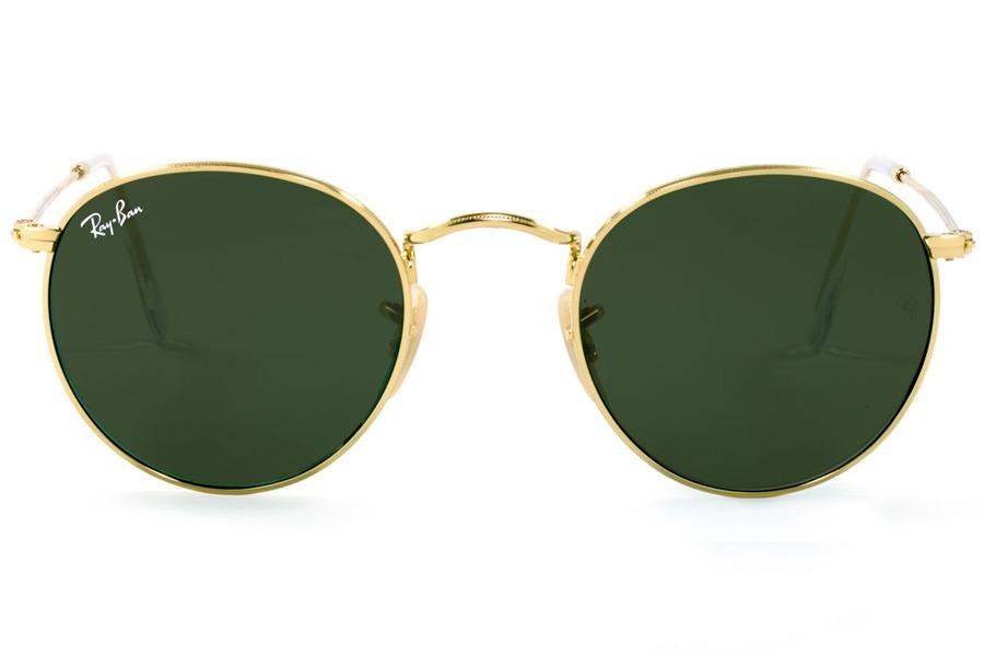 Óculos De Sol Ray Ban Round Metal Rb3447l 001 50 Dourado Pol - R ... b1784a6ed0