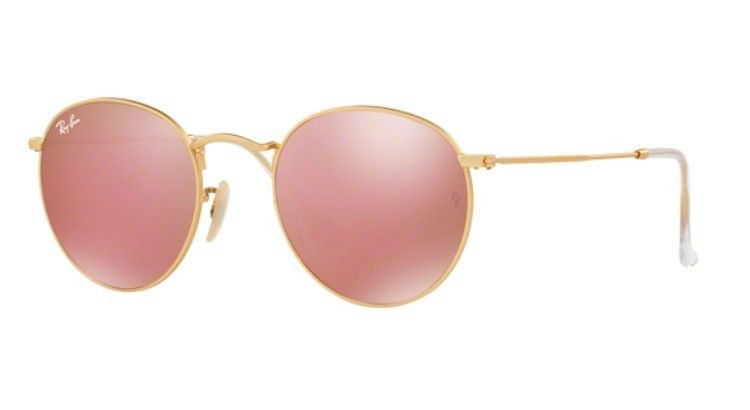 00793881c6f Oculos De Sol Ray Ban Round Metal Rb3447l 112 2z 53 Rosa Esp - R ...