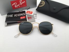 366d9352db Rayban Redondo Preto Dourado Lente - Óculos no Mercado Livre Brasil