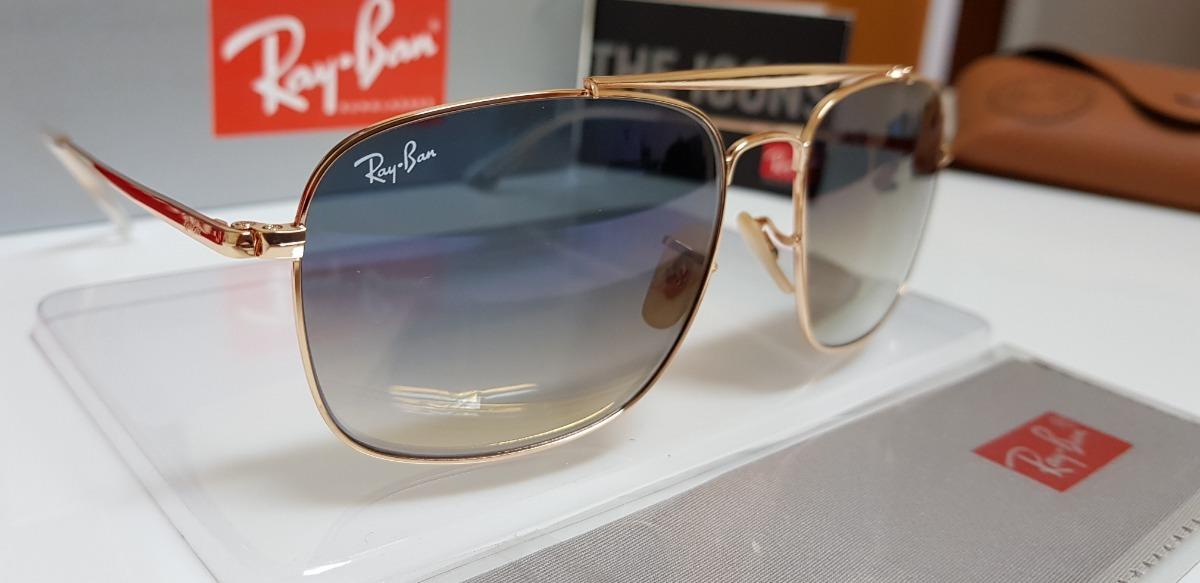 óculos de sol ray-ban- the colonel rb3560 azul degradê. Carregando zoom. 74944564ed