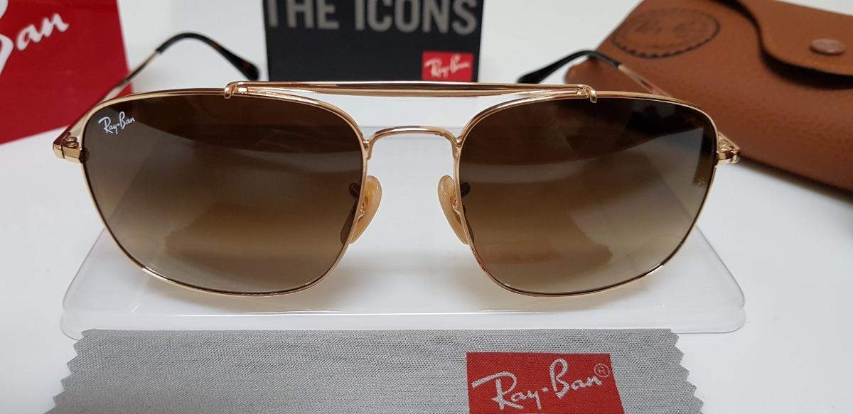 óculos de sol ray-ban- the colonel rb3560 marrom degradê. Carregando zoom. 6c9894bd2a