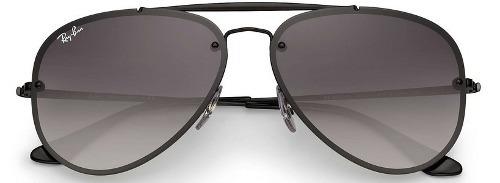 61378a789fc Óculos De Sol Ray Ban Top Aviador Blaze Preto Degradê Rb3584 - R ...