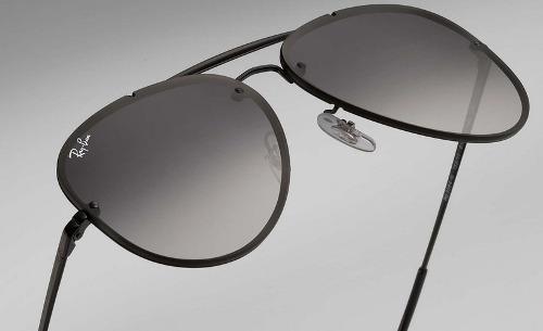 Óculos De Sol Ray Ban Top Aviador Blaze Preto Degradê Rb3584 - R ... 8251ced2e4