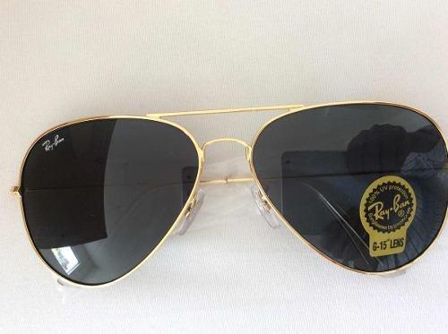 4a3e2b288 Óculos De Sol Ray Ban Top Aviador Classico Tamanho M - R$ 308,67 em ...