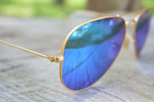 d94de3969196e Óculos De Sol Ray Ban Top Aviador Espelhado Azul Rb3026 - R  219,99 ...