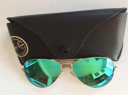 Óculos De Sol Ray Ban Top Aviador Espelhado Verde Rb3035 - R  229,99 ... 5f83e38a28